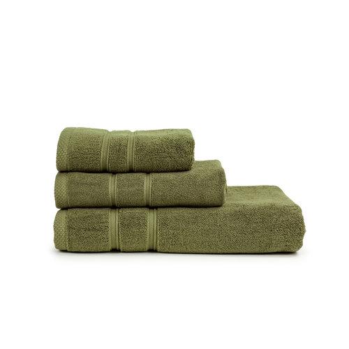 The One Towelling  Gastendoekje - Ultra Deluxe - Olijf groen