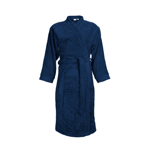 The One Towelling  Badjas - Navy Blauw
