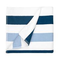 Strandlaken - Navy Blauw & Licht Blauw - 90x190 cm