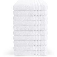 Handdoek - Wit - 50x100 cm - Set van 10