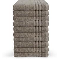 Handdoek - Taupe - 50x100 cm - Set van 10