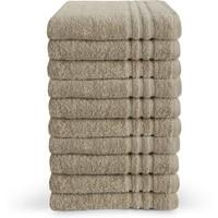 Handdoek - Zand - 50x100 cm - Set van 10