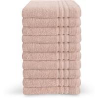 Handdoek - Roze - 50x100 cm - Set van 10