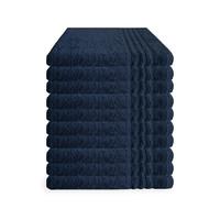 Handdoek - Navy - 50x100 cm - Set van 10