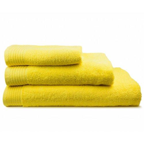 The One Towelling  Handdoek - Geel - 50x100 cm - Set van 5