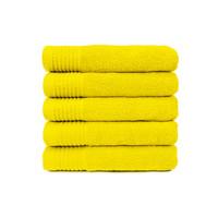 Handdoek - Geel - 50x100 cm - Set van 5
