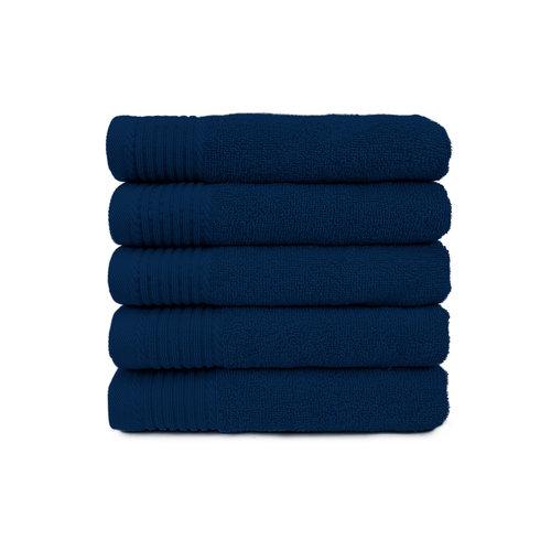 The One Towelling  Badlaken - Navy blauw - 70x140 cm - Set van 10