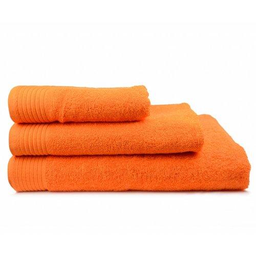 The One Towelling  Badlaken - Oranje - 70x140 cm - Set van 10