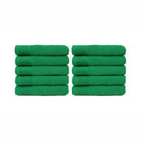 Badlaken - Groen - 70x140 cm - Set van 10