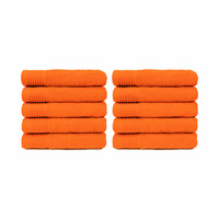 Badlaken - Oranje - 70x140 cm - Set van 10