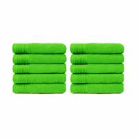 Badlaken - Lime groen - 70x140 cm - Set van 10
