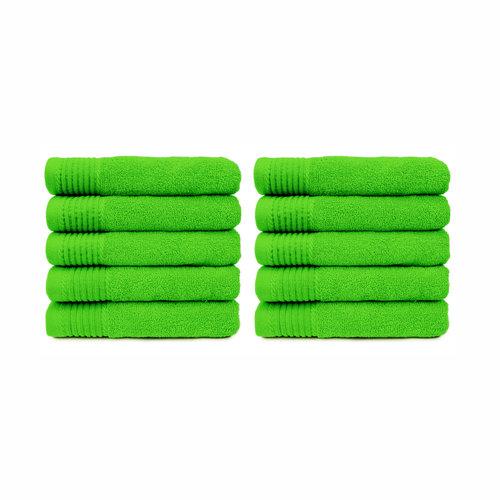 The One Towelling  Badlaken - Lime groen - 70x140 cm - Set van 10