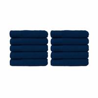 Badlaken - Navy blauw - 70x140 cm - Set van 10