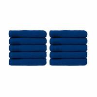 Badlaken - Kobalt blauw - 70 x140 cm - Set van 10