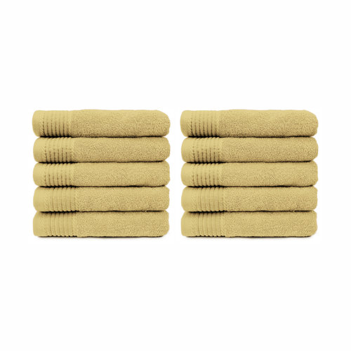 The One Towelling  Handdoek - Stone - 50x100 cm - Set van 10