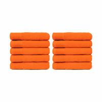 Handdoek - Oranje - 50x100 cm - Set van 10