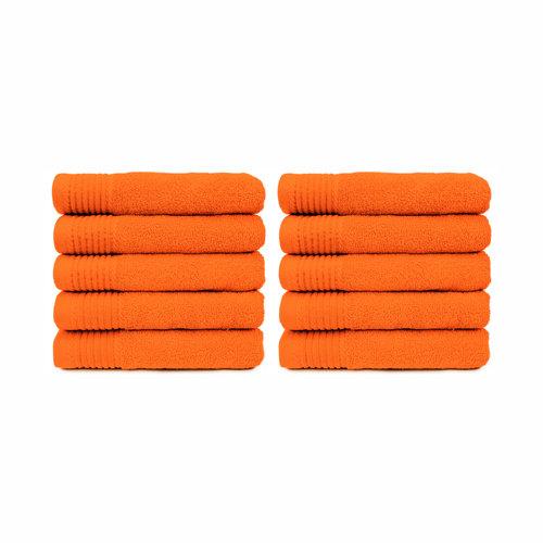 The One Towelling  Handdoek - Oranje - 50x100 cm - Set van 10