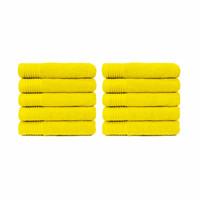 Handdoek - Geel - 50x100 cm - Set van 10