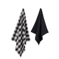 Set Keukentexiel - zwart/grijs