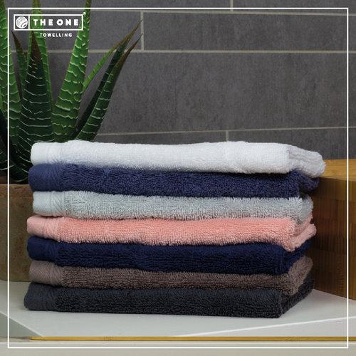The One Towelling  Handdoek - Organic - Denim - 50x100 cm