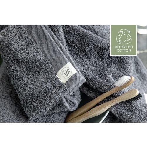 Walra Walra handdoek - Remade Cotton - Antraciet - 50x100