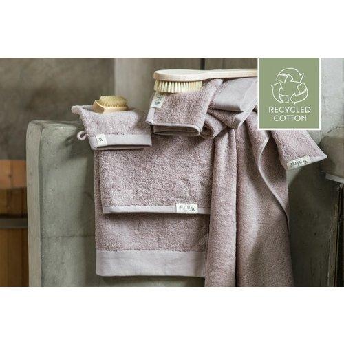 Walra Walra handdoek - Remade Cotton - Poeder Roze - 50x100