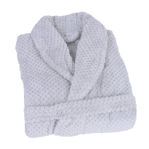 Clarysse Badjas - Fleece - Licht grijs