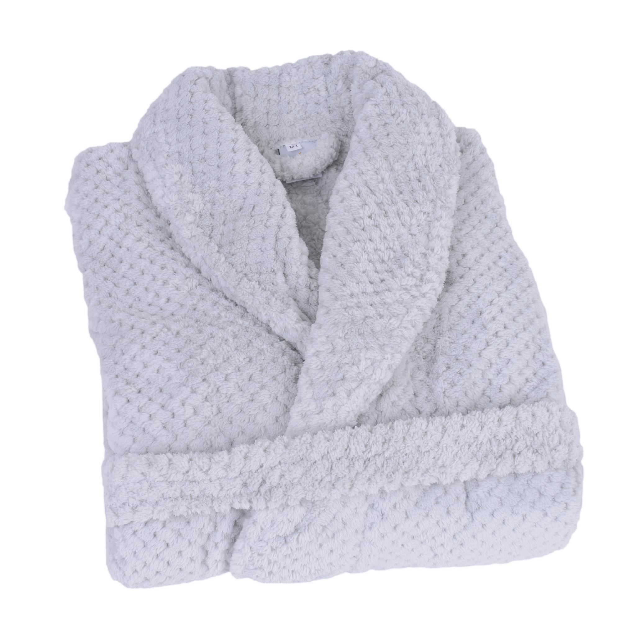 Clarysse Badjas -  Licht grijs - Size: M/L - 380 gram - Badstof