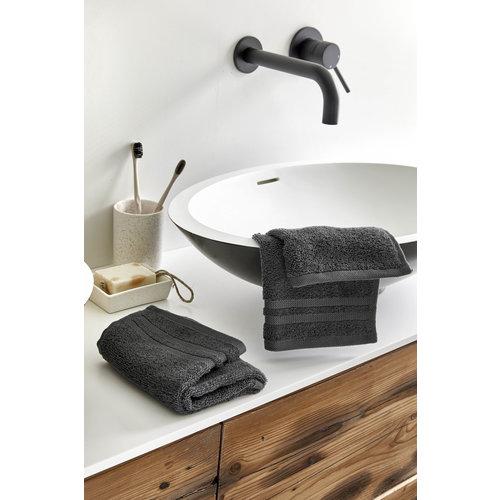 Byrklund 2 Gastendoekjes - Bath basics - Antraciet - 30x50 cm