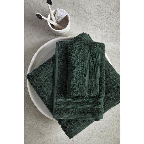 Byrklund 2 Gastendoekjes - Bath Basics -  Donker groen - 30x50 cm