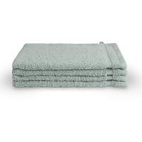 4 Washandjes - Bath basics - Aqua- 16x21 cm