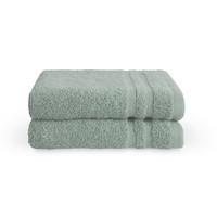 2 Gastendoekjes - Bath Basics - Aqua - 30x50 cm