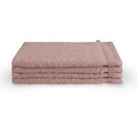 4 Washandjes - Bath Basics - Oud roze - 16x21 cm