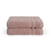 2 Gastendoekjes - Bath Basics - Oud roze  - 30x50 cm