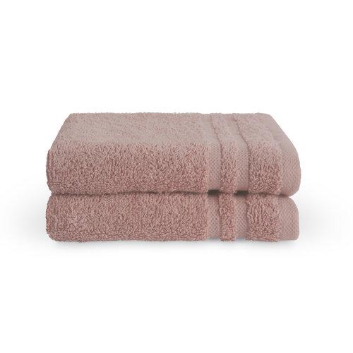 Byrklund 2 Gastendoekjes - Bath Basics - Oud roze  - 30x50 cm