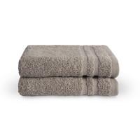 2 Gastendoekjes - Bath Basics - Taupe  - 30x50 cm