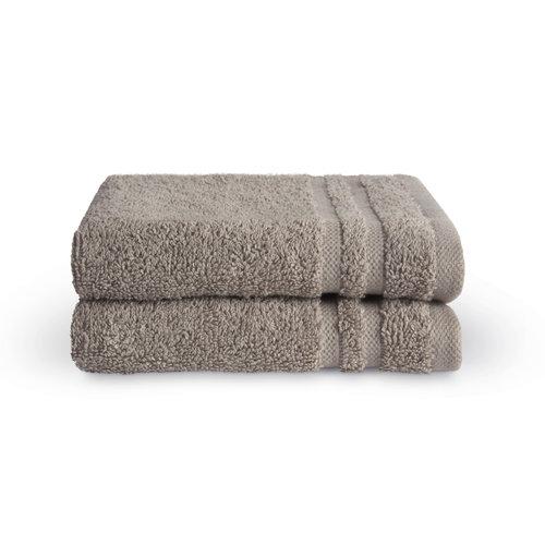 Byrklund 2 Gastendoekjes - Bath Basics - Taupe  - 30x50 cm
