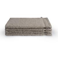4 Washandjes - Bath basics- Taupe - 16x21 cm