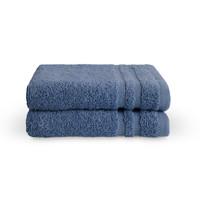 2 Gastendoekjes - Bath Basics - Blauw - 30x50 cm