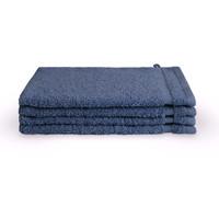 4 Washandjes - Bath Basics - Blauw - 16x21 cm