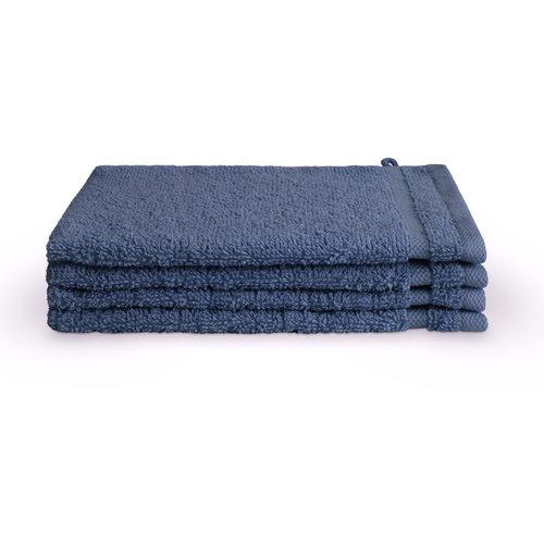Byrklund 4 Washandjes - Bath Basics - Blauw - 16x21 cm