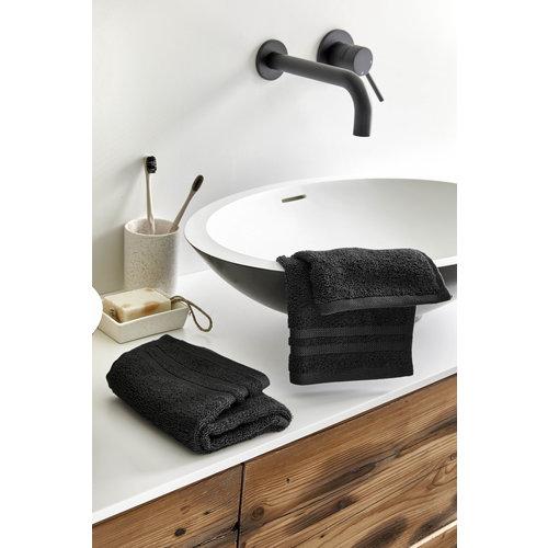 Byrklund 2 Gastendoekjes - Bath Basics - Zwart - 30x50 cm