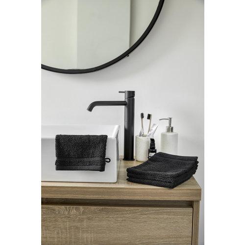 Byrklund 4 washandjes - Bath Basics - Zwart - 16x21 cm