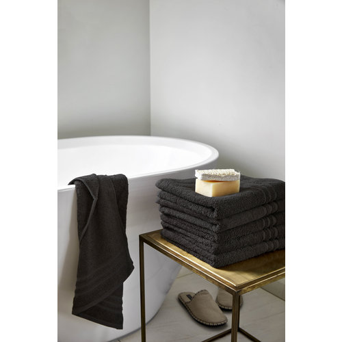 Byrklund Badlaken - Bath basics - Zwart - 70x140 cm