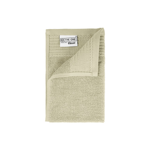 The One Towelling  Gastendoekje - Beige - 30x50 cm - Set van 5