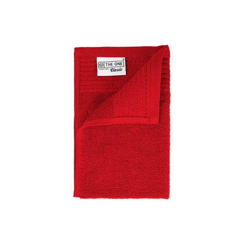 The One Towelling  Gastendoekje - Rood - 30x50 cm - Set van 5