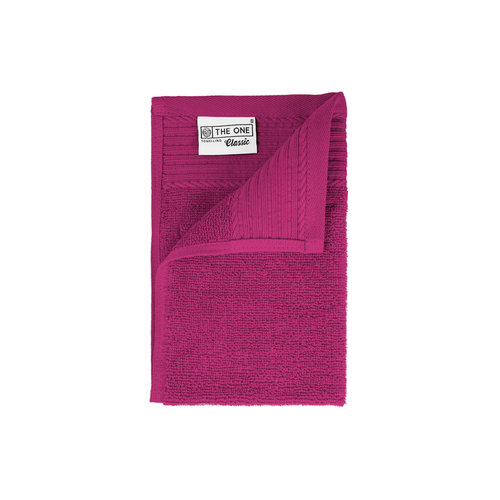 The One Towelling  Gastendoekje - Magenta - 30x50 cm - Set van 5