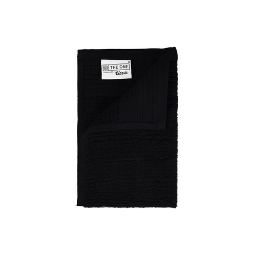 The One Towelling  Gastendoekje - Zwart - 30x50 cm - Set van 5