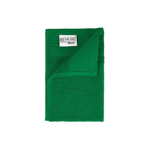 The One Towelling  Gastendoekje - Groen - 30x50 cm - Set van 5