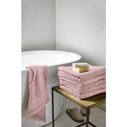 Byrklund Handdoek - Oud roze - 50x100 cm - Set van 5